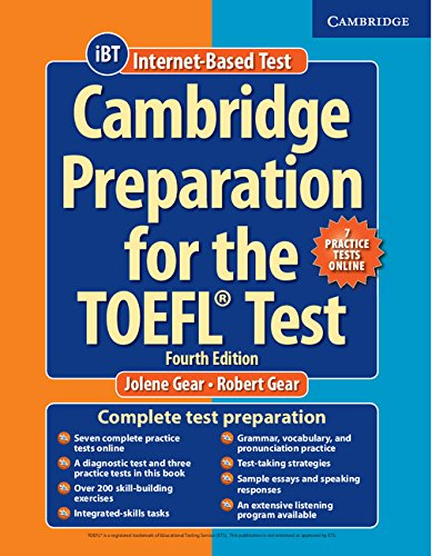 Cambridge Preparation for the TOEFL Test (Fourth Edition) Book with Online Practice Tests and Audio CDs (8) Pack