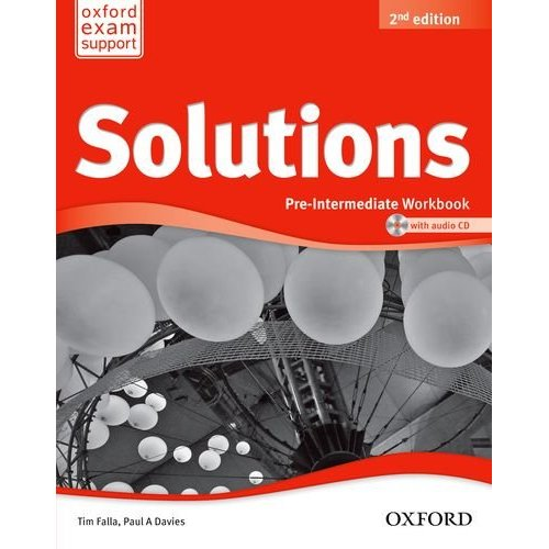 Solutions Second Edition Pre-Intermediate Workbook and Audio CD Pack