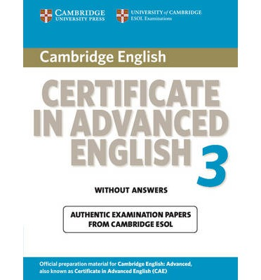 Cambridge Certificate in Advanced English 3 for updated exam Student's Book without answers