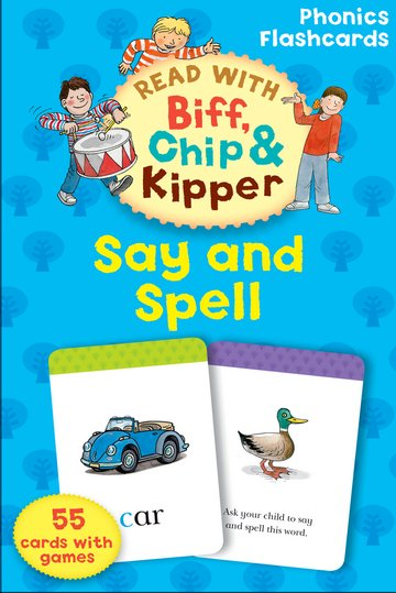 Say and Spell (Read with Biff, Chip and Kipper: Phonics Flashcards) Карточки (55)