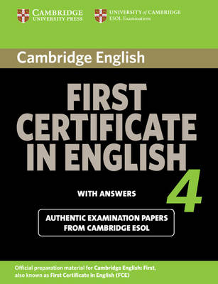 Cambridge First Certificate in English 4 for updated exam Student's Book with answers