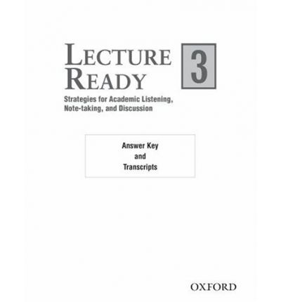 Lecture Ready 3 Answer Key/Script