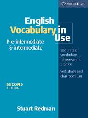 English Vocabulary in Use: Pre-intermediate and Intermediate (Second Edition) Book with answers