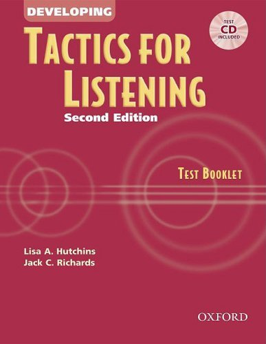Tactics for Listening Second Edition Developing Test Booklet with Audio CD