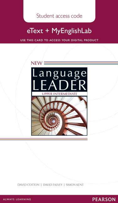 New Language Leader Upper Intermediate eText Coursebook with MyEnglishLab Pack (Workbook)