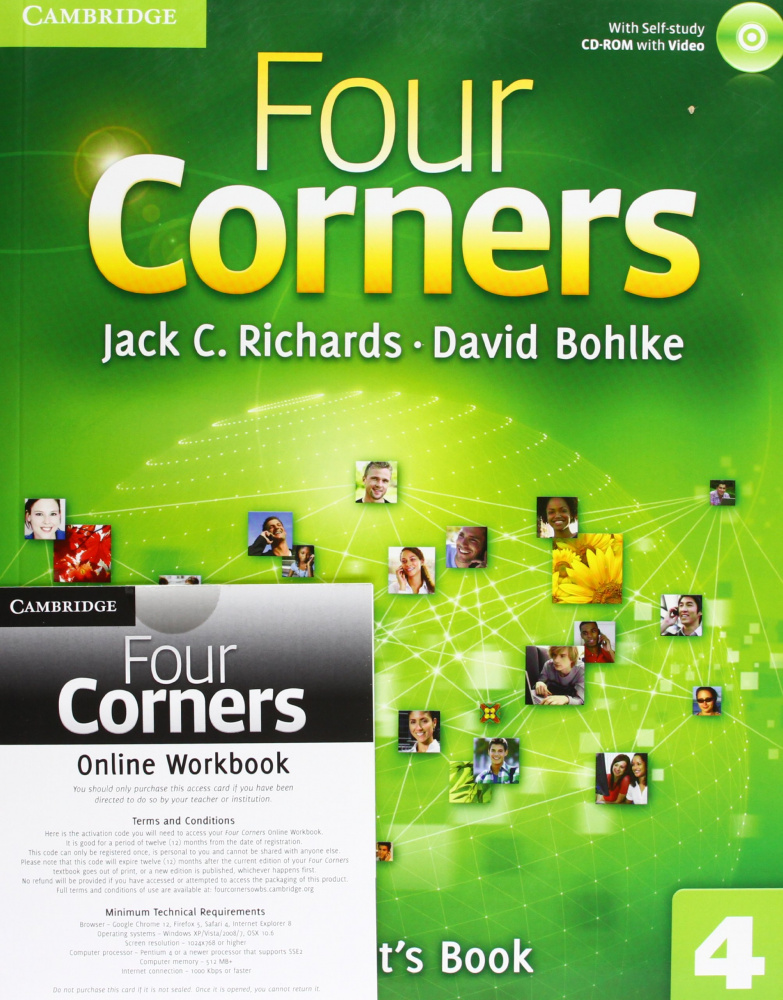 Four Corners Level 4 Student's Book with Self-study Audio CD and Online Workbook Pack