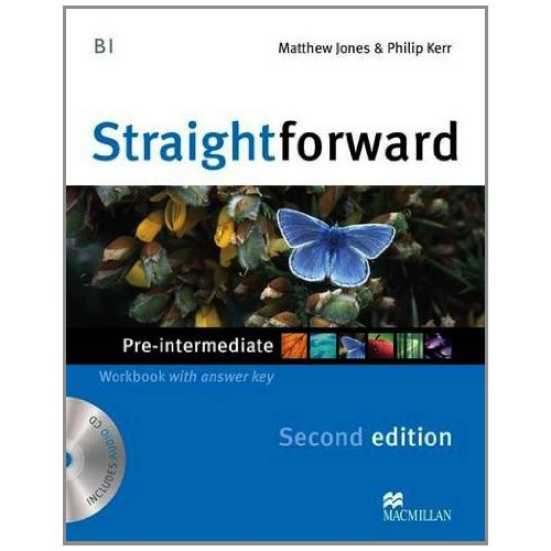 Straightforward (Second Edition) Pre-Intermediate Workbook with Key + CD