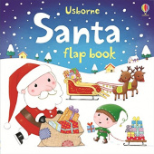 Santa Flap Book  (board book)