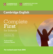 Complete First for Schools (for revised exam 2015) Class Audio CDs (2) (Лицензия)
