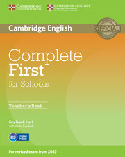 Complete First for Schools (for revised exam 2015) Teacher's Book