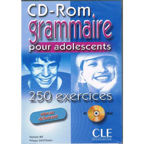 Grammaire pour adolescents Debutant - 250 exercices - CD-Rom