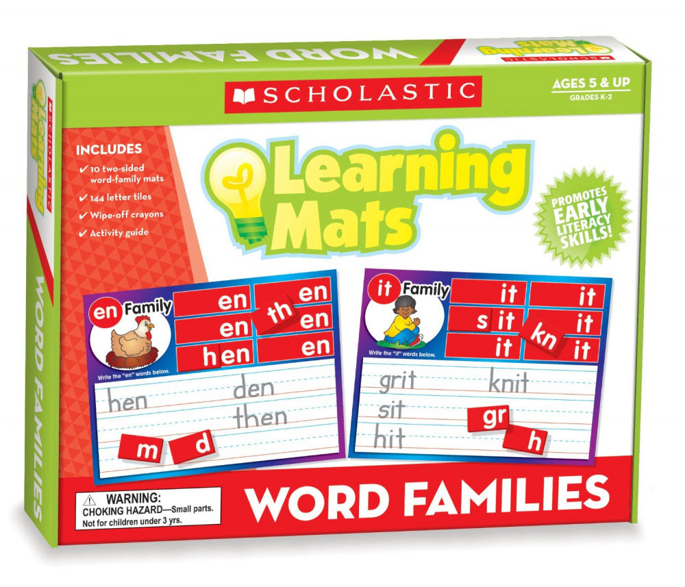 Learning Mats: Word Family