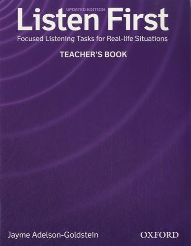 Listen First Teachers Book