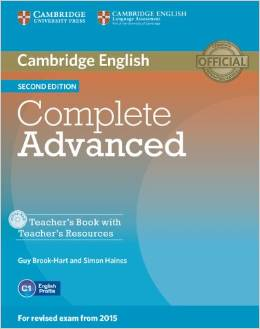 Complete Advanced 2nd edition (for revised exam 2015) Teacher's Book with Teacher's Resources CD-ROM