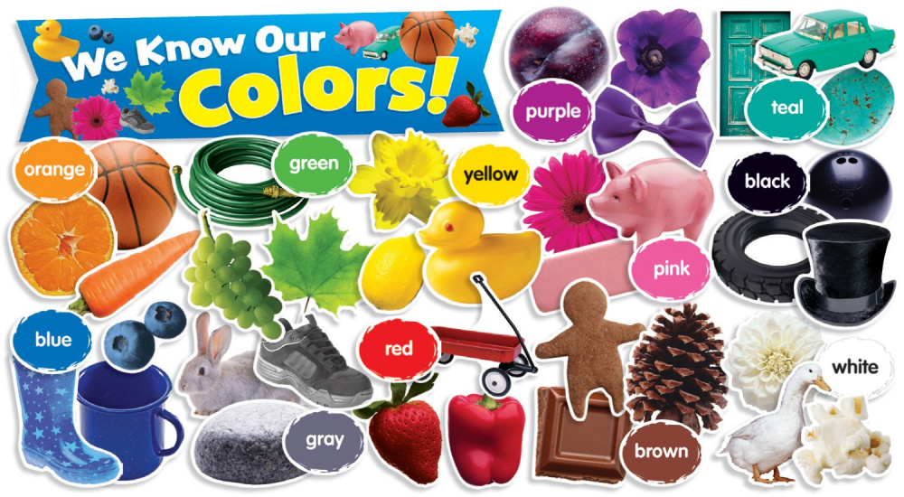 Colors in Photos Mini Bulletin Board (49 pieces)