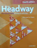 New Headway Pre-Intermediate Fourth Edition Workbook with Key