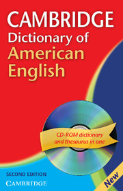 Cambridge Dictionary of American English 2nd Edition Paperback with CD-ROM for Windows and Mac