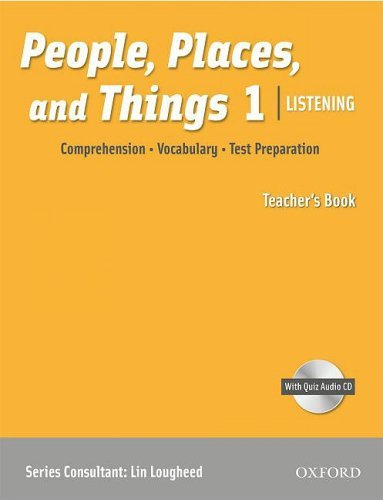 People, Places, and Things Listening 1 Teacher's Book with Audio CD