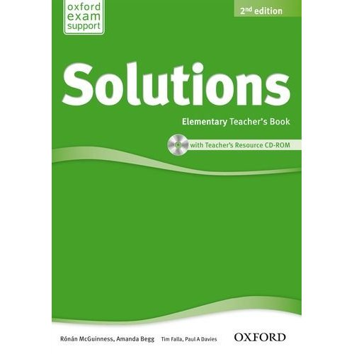 Solutions Second Edition Elementary Teacher's Book and CD-ROM Pack