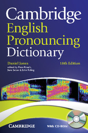 Cambridge English Pronouncing Dictionary 18th Edition Paperback with CD-ROM