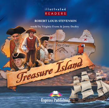 Illustrated Readers Level 2  Treasure Island Audio CD