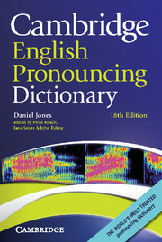 Cambridge English Pronouncing Dictionary 18th Edition Paperback