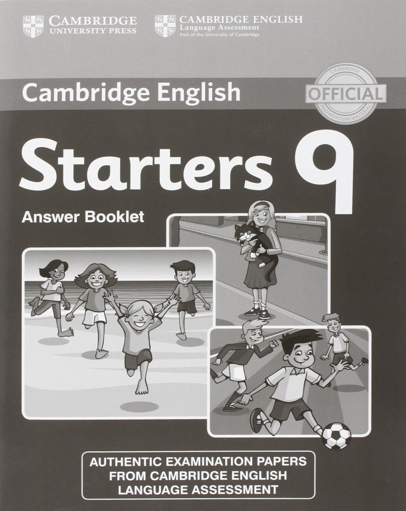 Cambridge Young Learners English Tests Starters 9 Answer Booklet