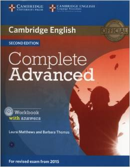 Complete Advanced 2nd edition (for revised exam 2015) Workbook with Answers with Audio CD