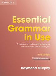 Essential Grammar in Use 3rd Edition  Book without answers