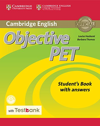 Objective PET 2nd Edition Student's Book with answers with CD-ROM with Testbank
