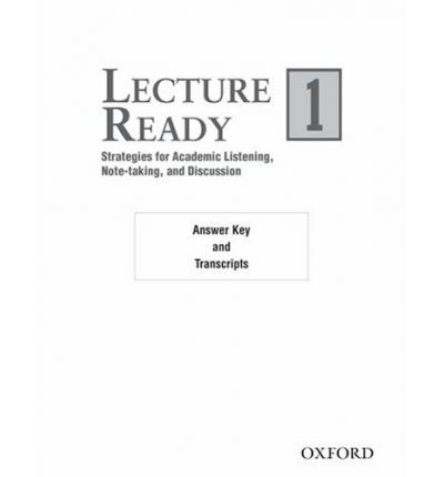 Lecture Ready 1 Answer Key/Script
