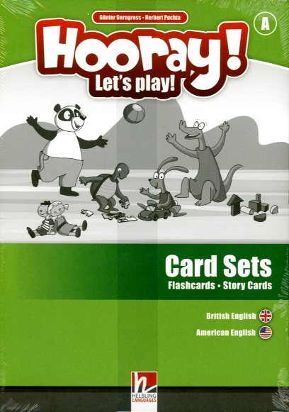 Hooray! Let's Play! Level A Visual Pack (Card-Sets, DVD, handpuppet)