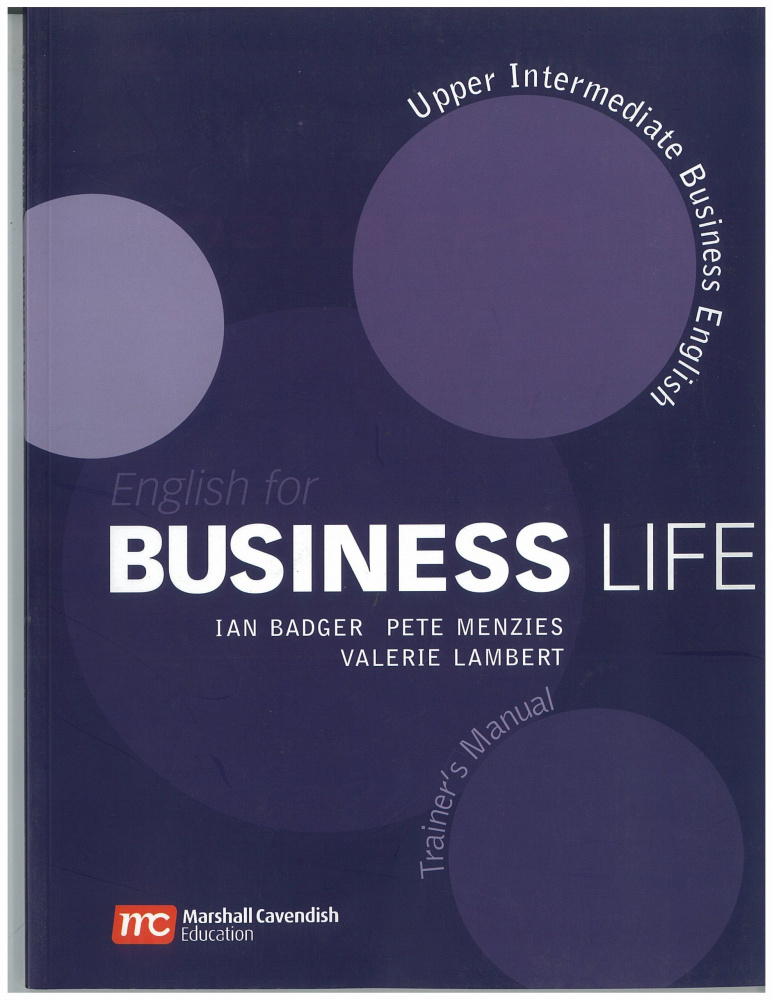 English for Business Life Upper Intermediate Teacher's Manual