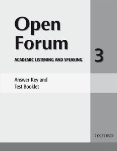 Open Forum 3 Answer Key and Test Booklet