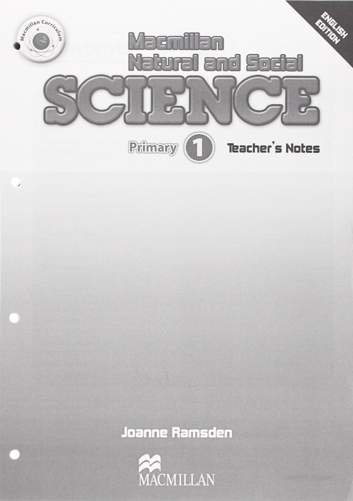Macmillan Natural and Social Science 1 Teacher's Notes