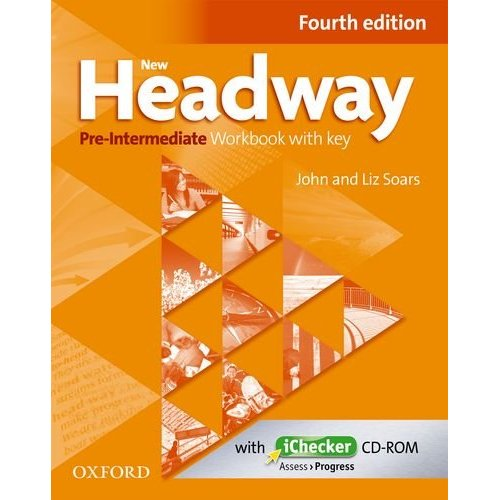 New Headway Pre-Intermediate Fourth Edition Workbook and iChecker with Key