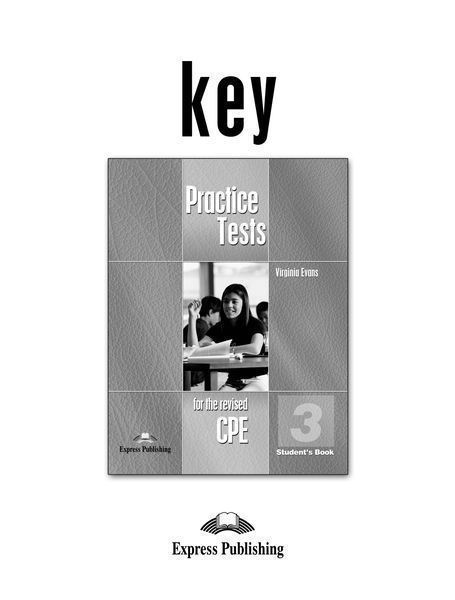 CPE Practice Tests 3 Key