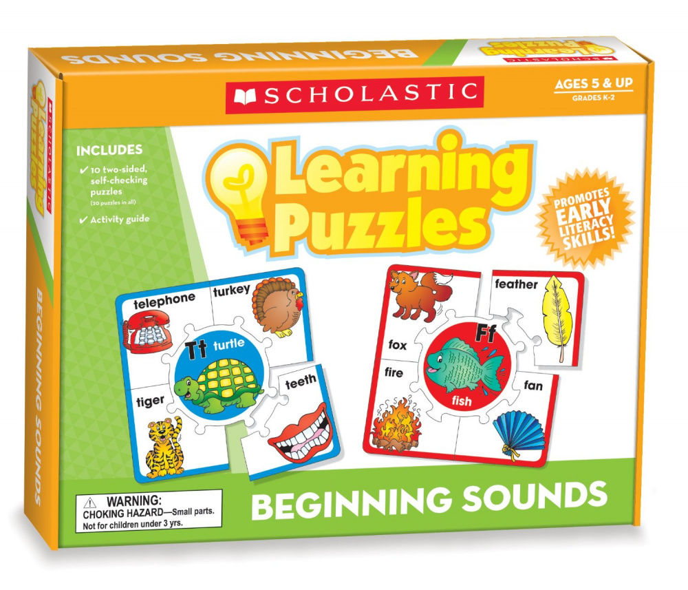 Learning Mats: Beginning Sounds Learning Puzzles