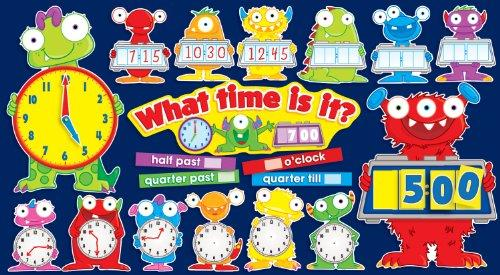 Monsters Tell Time Bulletin Board