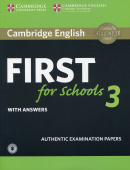 Cambridge English First for Schools 3 Student's Book with Answers with Audio