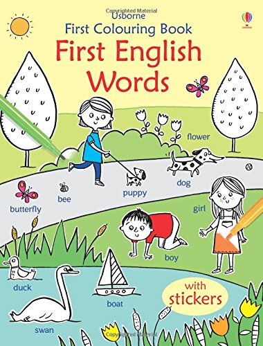 First Colouring Book First English Words