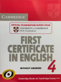Cambridge First Certificate in English 4 for updated exam Student's Book without answers