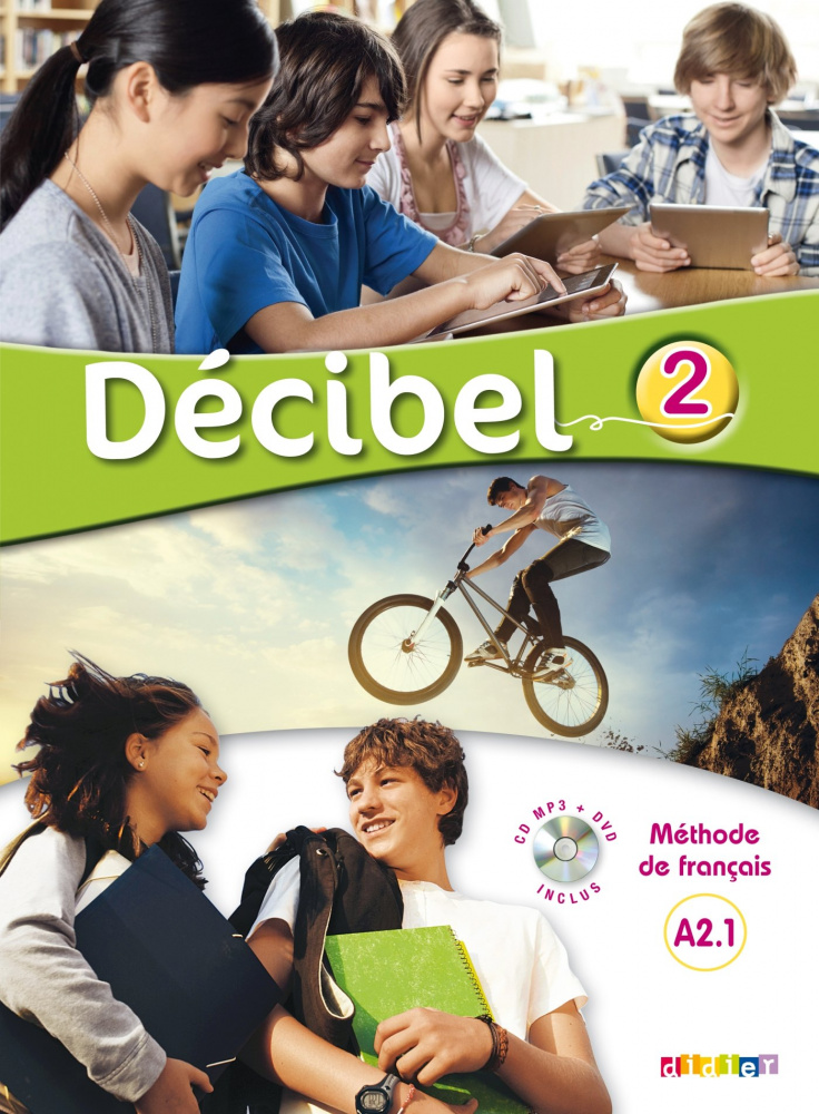 Decibel 2 niveau A2.1 Livre de l'eleve + CD MP3 + DVD