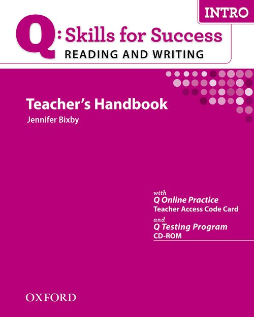 Q: Skills for Success Reading and Writing Intro Teacher's Book with Testing Program CD-ROM