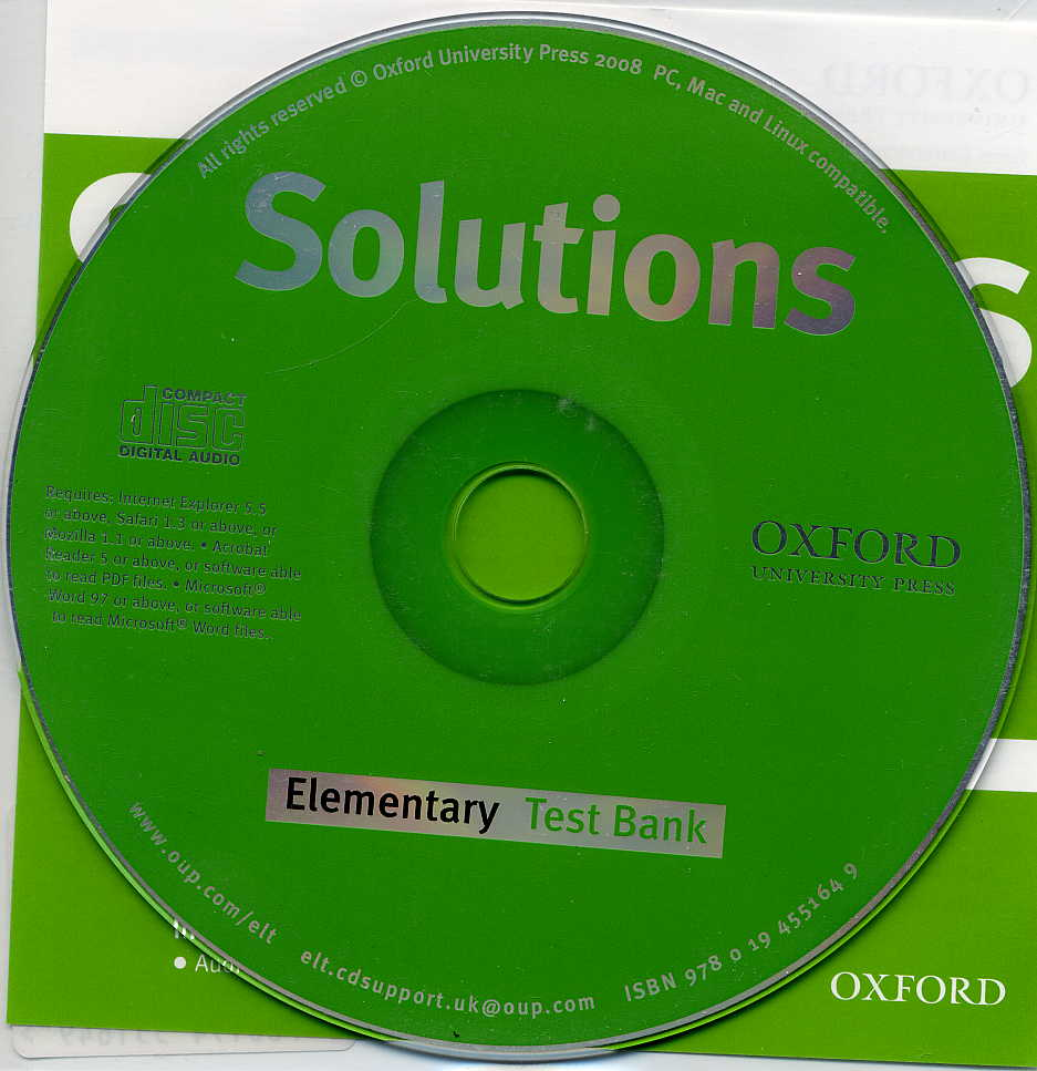Solutions Elementary Test Bank MultiROM