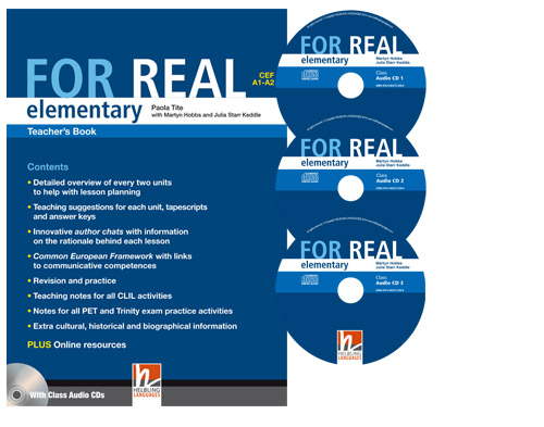 For Real Elementary Teacher's Pack (TB + TRB) with CD/CD-ROM