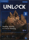 Unlock 2nd edition 3 Reading, Writing, & Critical Thinking Student's Book, Mob App and Online Workbook