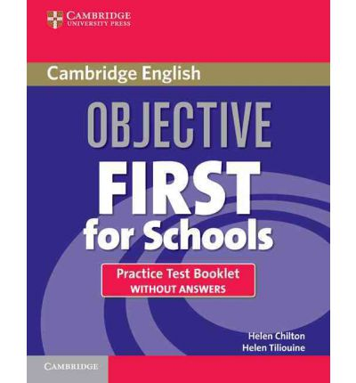 Objective First For Schools 3rd Edition Practice Test Booklet without answers and Audio CD