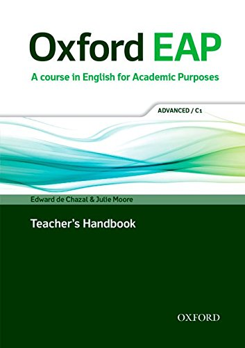 Oxford EAP Advanced/C1 Teacher's Book, DVD and Audio CD Pack