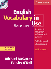 English Vocabulary in Use: Elementary (Second Edition) Book with answers and CD-ROM